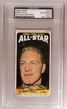 BOBBY HULL SIGNED TOPPS 1964 CHICAGO BLACKHAWKS HOCKEY CARD #107 PSA/DNA Auto AS