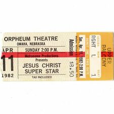 JESUS CHRIST SUPERSTAR Theater Show Concert Ticket Stub OMAHA 4/11/82 Freak Rare