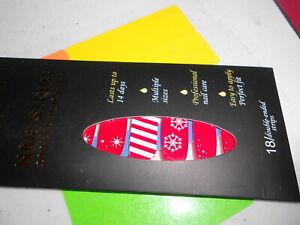 Nail Polish Strips (new) Rarity RED & WHITE SNOWFLAKES & STRIPES