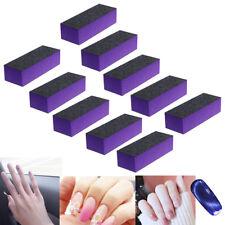 10 Pcs Black Purple Buffer Buffing Sanding Block Files Grit Nail Art Tool Set
