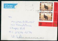Mayfairstamps Namibia Birds Corner Pair to US Cover wwh30647