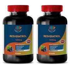 Anti-Aging - Resveratrol Supreme 1200 - Fat Oxidation - Antioxidant - 2B 120Ct
