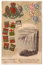 CANADA  - Old Postcard with Embossed Stamps
