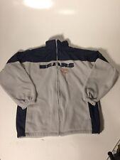 Chicago Bears Fleece Jacket Large Gray/Navy Full Zip