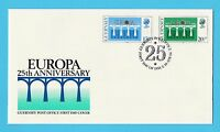 STAMP FIRST DAY COVER - GUERNSEY  -  EUROPA  25TH  ANNIVERSARY  -  1984