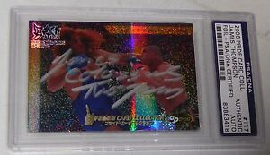 James Thompson Signed 2006 Pride FC Foil Card 117 PSA/DNA Bellator UFC Autograph