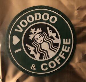 """2020 SHOT Show Las Vegas Voodoo Tactical Patch """"I Love Voodoo & Coffee"""" Starbuck"""