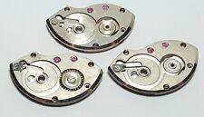 3 Vintage mens mechanical jeweled watch movement plate parts lot #5CM