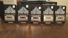 Lot of 5 MAXELL 60 min Vintage Blank Cassette Tape Sealed (US Seller)
