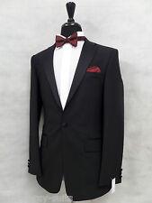 Men's Black Karl Jackson Tuxedo Dinner Suit 36R W30-28 L31 MV8255