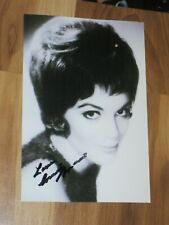 Singer CONNIE FRANCIS Signed 4x6 Photo AUTOGRAPH 1A