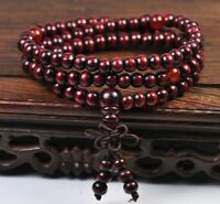 Sandalwood Bead Mala Buddhist Buddha Meditation 108 Prayer Bracelet Necklace