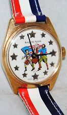 Bradley 1976 The Spirit of '76 Watch in Original Case Red, White, Blue Band MINT