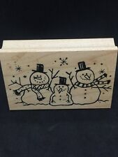 "Great Impressions ""Snowman Family, Stovepipe Hat"" Snow,Winter, Christmas~~#G257"