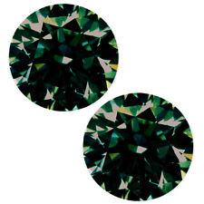 Round Moissanite Diamond 4 Earrings/Ring 3.80 ct 2pc Vvs1/8.20mm White Brown
