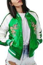 Topshop Dragon Embroidered Bomber Jacket Size UK 6 Petite rrp £85 DH088 EE 05