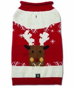 Petrageous Dog Christmas Sweater Reindeer Winter Snow  XS S M XL