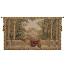 """Verdure au Chateau No People French Tapestry Wall Hanging H 58"""" x W 110"""""""