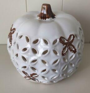 Halloween ceramic large Lit Up Pumpkin