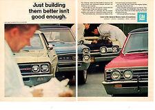 1967 GENERAL MOTORS  -  GS 400 / GTO / 442 / CHEVELLE - ORIGINAL 2-PAGE PRINT AD