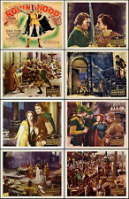 ERROL FLYNN As ROBIN HOOD Complete Set Of 8 Individual 11x14 LC Prints 1938