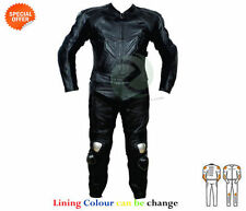 Blousons noirs en cuir pour motocyclette taille 5XL