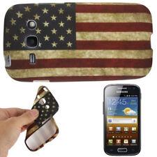 TPU Case für Samsung S7272 Galaxy Ace 3 Retro Flagge Amerika Etui Hülle Cover