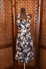 Womens WHITE HOUSE BLACK MARKET Floral Silk Halter Spring Aline DRESS Size 6