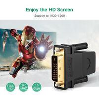[1-10Pcs] Gold Plated HDMI to DVI-D(24+1) (Female-Male) AV Adapter Converter-US