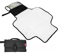 Baby Travel Changing Mat Foldable Changing Pouch Black