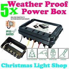5x DriBox Waterproof Dry Box for Outdoor Garden Christmas Lights Safe Dry Power