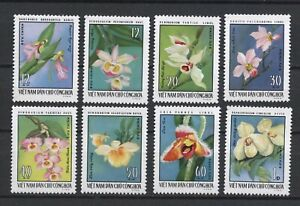 1976 North Vietnam Stamps Complete Orchids Flowers Collection Sc # 822-829 MNH