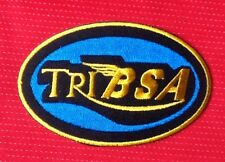 TRIBSA BSA BANTAM CAFE RACER VINTAGE BIKE BIKER  BADGE IRON SEW ON PATCH