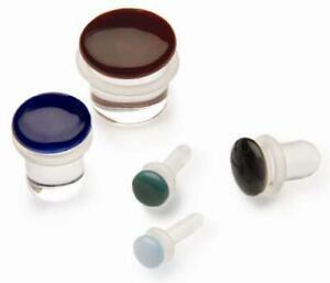 Gorilla Glass Color Front Single Flare Plug - Price Per 1