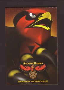 Atlanta Hawks--2001-02 Pocket Schedule