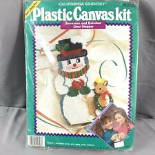 California Country Plastic Canvas Snowman Reindeer Door Stopper Kit Christmas