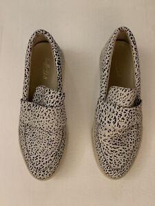 LOEFFLER RANDALL Leather Polka Dot Slip On Sneaker In Black And White (8.5)
