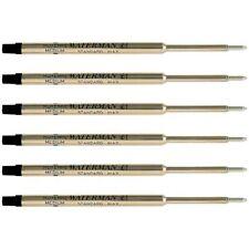 Waterman Black Ballpoint Ink Refill Medium Point Maxima 6 Pack Refills 834254
