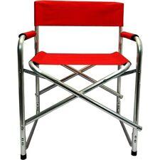 Sedia regista pieghevole in alluminio rosso o blu per campeggio o da esterno
