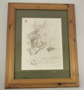 """E H Shepard Drawing Winnie The Pooh """" Under the Name of Sanders"""" Print (AN_1487)"""
