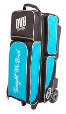 DV8 Circuit Teal/Black 3 Ball Roller Bowling Bag