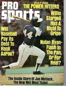 1973 Pro Sports baseball magazine Hank Aaron, Atlanta Braves VG date stamp