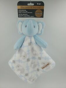 Blankets & Beyond Plush Security Blanket, Boys Shower Gift, Blue Elephant, L30