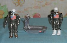 vintage Zee Toys METAL MAN MAJOR MERCURY x2 WITH LEVITATION PLATFORM + VISOR