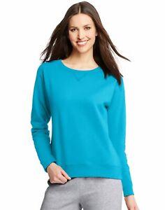 Hanes Womens ComfortSoft EcoSmart Crewneck Sweatshirt