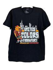 Eintrach Frankfurt Fan Club Verband Ev Soccer T-shirt Black United Colors Xl Euc