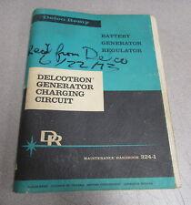 Delco-Remy Delcotron Generator Charging Circuit 324-1 Maintenance Handbook