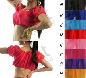 New Belly Dance Top Bollywood Lady Belly Dance Costume Shoulder less Harem top