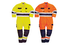 Portwest Workwear Mens Nantes Hi-vis Coverall TX55ONRXXXL 3 XL Orna