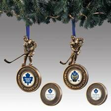 Bronze Hockey Player Toronto Maple Leafs Ornament - Bradford Exchange